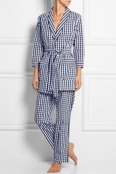 Sleepy Jones | Louise gingham cotton-poplin robe | NET-A-PORTER.COM