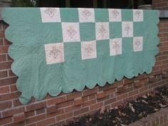 Vintage Embroidered Quilt Over Lay Flower Basket Pattern . Starting at $10