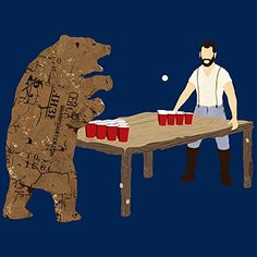 Bear Pong Bear Art Print Poster Sharp Shirter