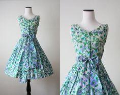 floral print 50's dress