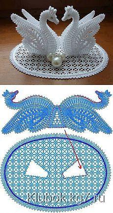 Нежные лебеди, связанные крючком - Рукоделие