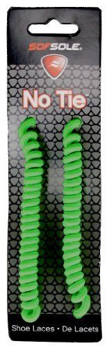Sof Sole No Tie Neon Green Laces, 27-45 by Sof Sole. $2.45. Try these high quality curly laces for anyone who has problems tying their shoes or just for fun!