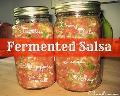 What's fermented salsa, you ask? It means it's probiotic. Like yogurt or kefir.