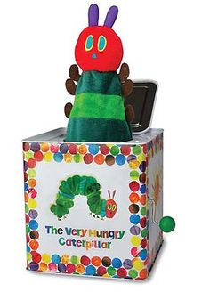 8 )Eric Carle The Very Hungry Caterpillar Jack in the Box by Kids Preferred at Toys R US/Babies R Us. Violet has told me she wants this toy! Hungry Caterpillar Nursery, Caterpillar Toys, Very Hungry Caterpillar, Baby Activity Toys, Infant Activities, Jack In The Box, Baby Musical Toys, Baby Toys, Hungry Caterpillar