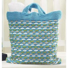 knit basket weave bag | the knitting space