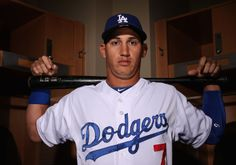 GLENDALE, AZ - FEBRUARY 20: Alex Guerrero #7 of the Los Angeles Dodgers poses for a portrait during spring training photo day at Camelback Ranch on February 20, 2014 in Glendale, Arizona. (Photo by Christian Petersen/Getty Images)