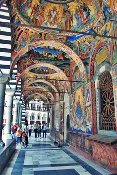 Rila Monastery, located south of Sofia, Bulgaria Sofia Bulgaria, Oh The Places You'll Go, Places To Travel, Travel Destinations, Places To Visit, Travel Europe, Travel Tips, Travel Around The World, Around The Worlds