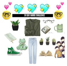"""""""⭐30 day anime challenge-day 14:anime that never gets old no matter how many times you've rewatched it:Osomatsu-san⭐"""" by supernova-1000 ❤ liked on Polyvore featuring Yves Saint Laurent, Ted Baker, Topshop and Converse"""