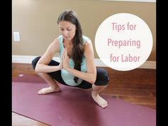 Simple exercises and tips to prepare body for easy labor - YouTube