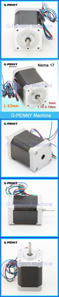 Free sale!Nema 17 stepper motor 42x60mm for sale 1.7A 0.73N.m 1.8deg 104Oz-in stepping motor For Cut Laser Engraving 3D Printer