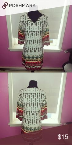 Gorgeous Boho Printed Flowy Dress Size small. In excellent condition. Really stands out and is super comfortable! Dresses Mini