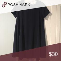 Cute navy blue dress Short-sleeve flowy babydoll dress. Only worn once! Lush Dresses Mini
