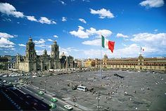 Zocalo of Mexico City one of the world's largest squares