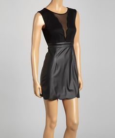 Another great find on #zulily! Black Fit & Flare Dress by Zinga #zulilyfinds