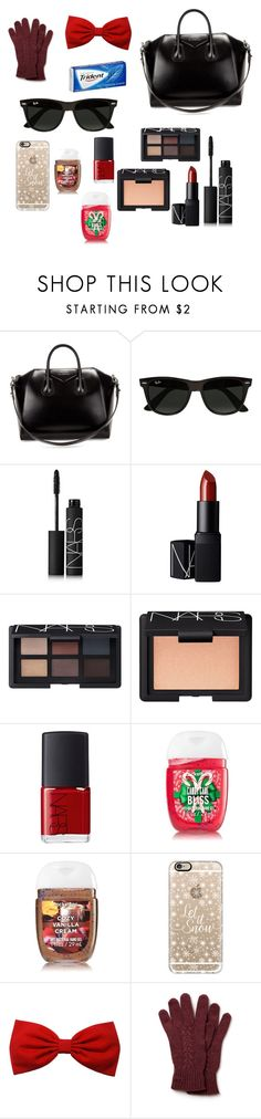 """""""What's in My Bag?"""" by elissa-dancer ❤ liked on Polyvore featuring Givenchy, Ray-Ban, NARS Cosmetics, Casetify and Lacoste"""