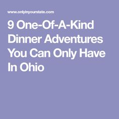 Throughout the state, there are several unique restaurant and transportation options that serve dinner with a side of adventure. One Day Trip, Day Trips, Unique Restaurants, Sandwich Shops, Cleveland Ohio, Road Trippin, Places To See, Things To Do, Transportation