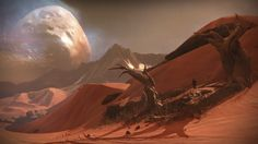 Mars / art for Destiny, a new game by Bungie