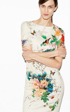 Adore this floral printed dress from ZARA