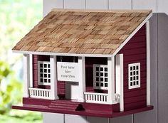 Briefkasten Schwedenhaus aus Holz Landhaus Wandbriefkasten Postkasten NEU
