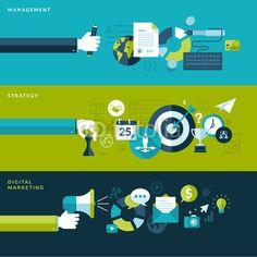 Vecteur : Set of flat design vector illustration concepts for business