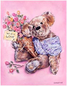 Meadow Cottage Bears : With Love © Copyright Christine Haworth Designs
