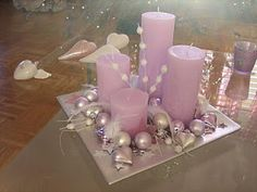 Advent / Weihnachten - Advent / Weihnachten Sie sind an der ri. Christmas Punch, Christmas Candles, Pink Christmas, Christmas Wreaths, Christmas Crafts, Christmas Ornaments, Ramadan Decorations, Halloween Decorations, Christmas Decorations