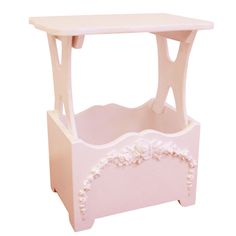 Bella magazine table makes organizing easy with shabby chic decor style.