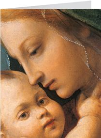 Madonna and Child, Francesco Granacci (Italian, 1469-1543)  Even Mother Mary loved the smell of her baby's head :-)