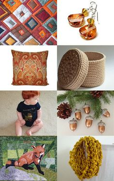On PAGE 1 !  Thanks for including my handmade Acorn Ornaments!  --Pinned with TreasuryPin.com