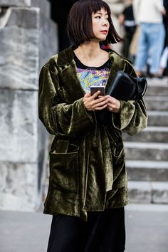 PE2017 fashion week paris street look inspiration coiffure carré