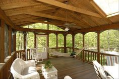 screened in porch back-porch...for my dream cabin in the woods :)