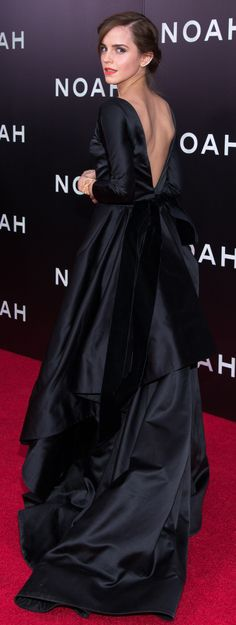 Emma Watson in Oscar de la Renta at the New York Noah premiere.