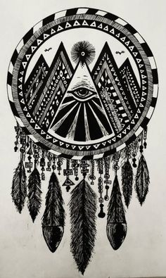 Occult Dreamcatcatcher, i'd like to have a tattoo like this one:)
