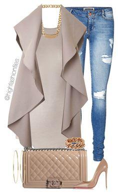"""Casual Conversation"" by highfashionfiles ❤️ liked on Polyvore featuring Vero Moda, Rick Owens, Balenciaga, Oscar de la Renta, Chanel, Christian Louboutin, STELLA McCARTNEY, Jennifer Meyer Jewelry, women's clothing and women's fashion"