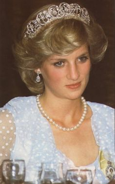 Diana in pale blue spotty chiffon