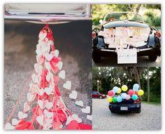dekoracje samochodu ślub 1