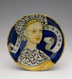 Bowl (Coppa amatoria). Italy, Castel Durante, 1530-37, Majolica; polychrome painting. Diam. 21 cm