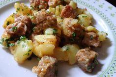 Brassói aprópecsenye Potato Salad, Pork, Potatoes, Ethnic Recipes, Blog, Kale Stir Fry, Potato, Blogging, Pork Chops