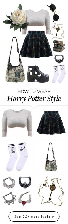 """""""#132"""" by http-omam on Polyvore featuring Chicwish, Yeah Bunny, Kosher Casual, Abigail Ahern, Tiffany & Co., D&M, Polaroid and Hot Topic"""