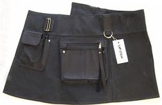 Out of her Santa Fe studio, Sherry Stein, a former design director for the Gap, produces women's tool belts and multi-pocketed wrap skirts that can take th Tote Bag Organizer, Work Aprons, Cute Skirts, Wrap Skirts, Gardening Apron, Leather Apron, Apron Designs, Handmade Handbags, Urban Chic