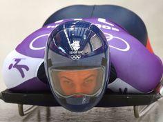 The most amazing skeleton helmets at Sochi Olympics 2014 Bobsleigh, Winter Olympics, Great Britain, Skeleton, Riding Helmets, Hats, Sport, Poster, Over Knee Socks