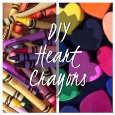 Pinterest-ed: DIY Crayon Hearts - pinned by @PediaStaff – Please Visit ht.ly/63sNtfor all our pediatric therapy pins