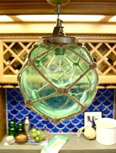 Glass Float Inspired DIY Rope Lamp