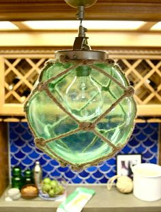 Glass Float Inspired DIY Rope Lamp