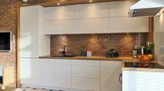 Nobilia Kitchen, Kitchen Wall Cabinets, Beige Kitchen, Kitchen Room Design, Kitchen Cabinet Design, Dining Room Design, Living Room Kitchen, Interior Design Kitchen, Kitchen Furniture
