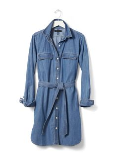 Denim shirt dress by Banana Republic