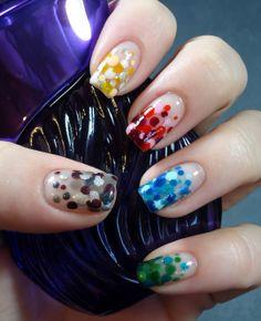 Wet Paint Sheer Tints mixed with opaques Painted Nail Art, Neutral Nails, Jelly, Nail Polish, Dots, Nailart, Painting, Stitches, Nail Polishes