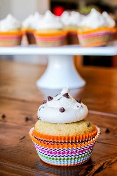 See Brooke Cook: {Gluten Free} Chocolate Chip Cookie Dough Cupcakes