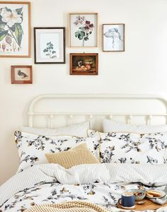 Joules Monochrome Blossom Homeware Duvet Cover, bedroom, bedding, simple, country, home, interior