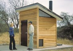 modern outhouse in alaska